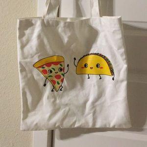 Handbags - NWOT NEW RARE!! taco pizza tote bag